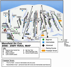 Ski Mansfield Ski Trail Map