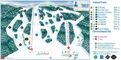Ski Mont Rigaud Ski Trail Map