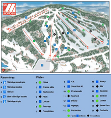 Ski Montcalm Ski Trail Map