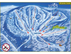 Ski Morin Heights Ski Trail Map