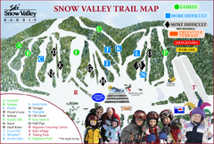 Ski Snow Valley Barrie Ski Trail Map