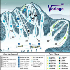 Ski Vorlage Ski Trail Map