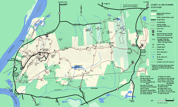 Skinner State Park trail map