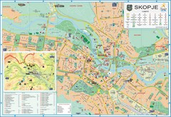 Skopje Tourist Map