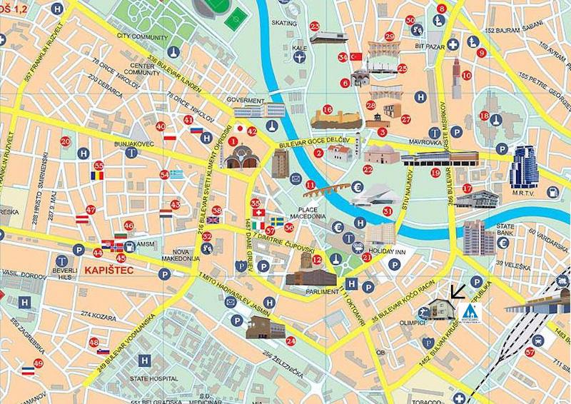 Skopje Map | Maps Skopje Map