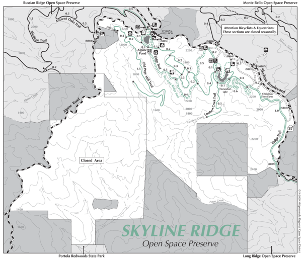 Skyline Ridge Open Space Preserve Map