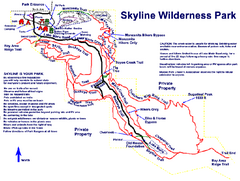 Skyline Wilderness Park Map