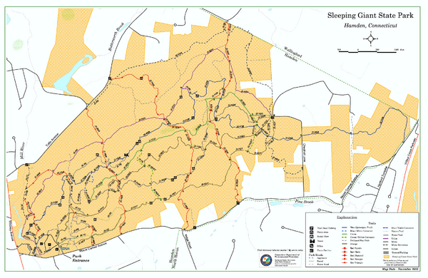 Sleeping Giant State Park map