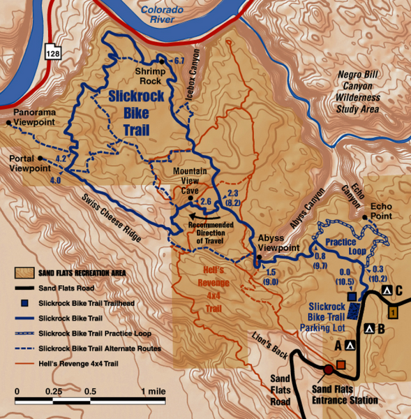 Slickrock Trail Map - Moab Utah • mappery