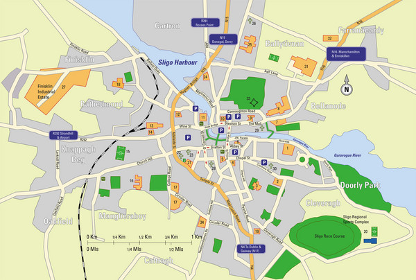 Sligo City Map