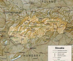 Slovakia country map