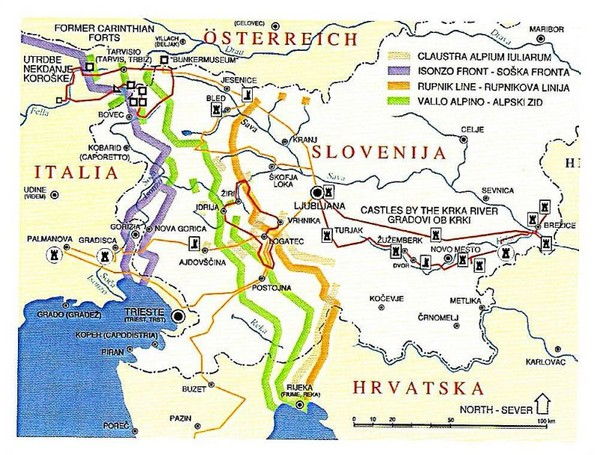 Slovenia Tour Map