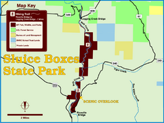 Sluice Boxes State Park Map
