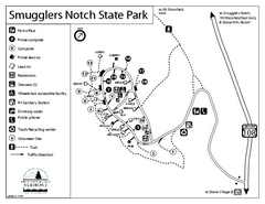 Smugglers Notch State Park Campground Map