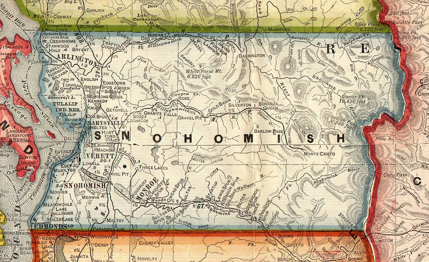 snohomish county washington map Snohomish County Washington 1909 Map Mappery