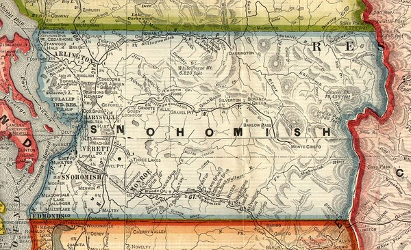 Snohomish County Washington, 1909 Map