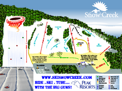 Snow Creek Ski Trail Map