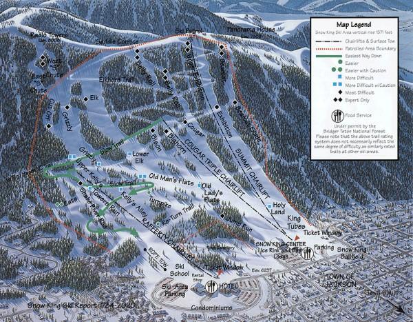 Snow King Ski Trail Map - 400 E Snow King Ave Jackson Hole Wyoming ...