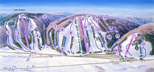 Snow Ridge Ski Trail Map