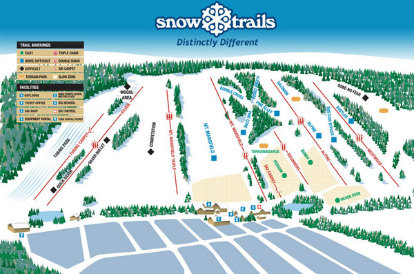 Snow Ski Trail Map
