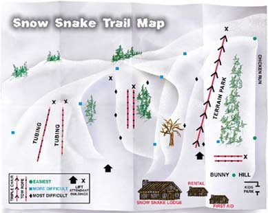 Snow Snake Mountain Ski Trail Map