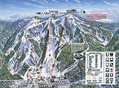 Snow Summit Ski Trail Map