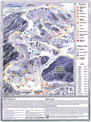 Snow Valley Ski Trail Map
