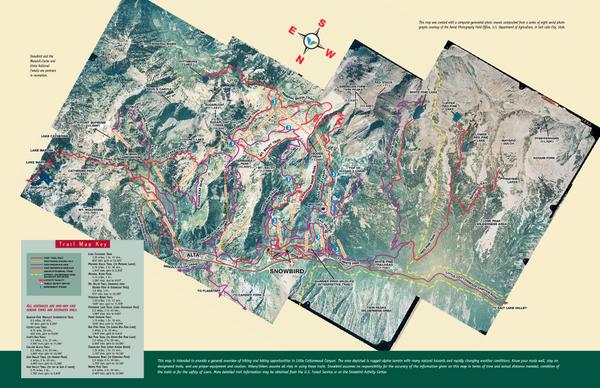 Snowbird Alta Area Summer Mountain Biking Hiking Map 84092 Mappery