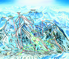 Snowbird Ski Trail map