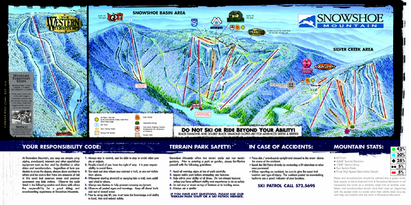 Ski Virginia Map.Snowshoe Mountain Ski Trail Map West Virginia United States Mappery