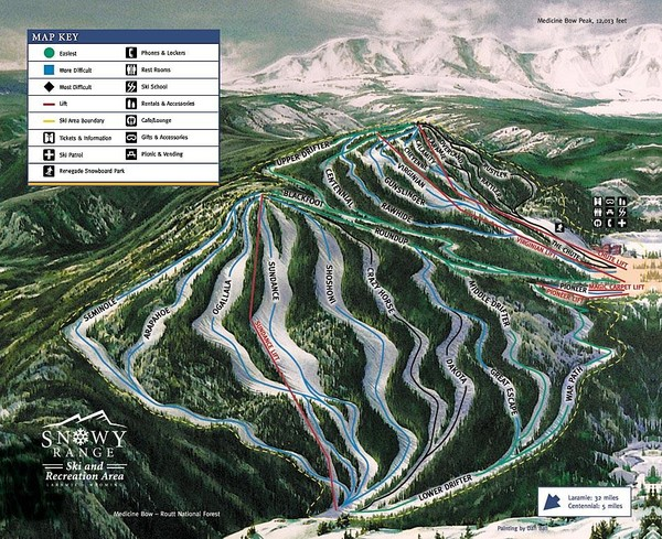 Snowy Range Ski Trail Map