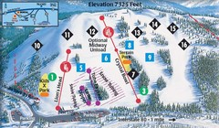Soda Springs Ski Trail Map