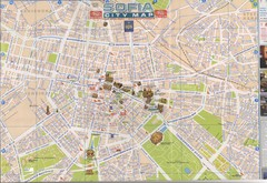 Sofia, Bulgaria Tourist Map