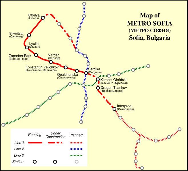 Sofia Subway Map.Sofia Metro Map Sofia Bulgaria Mappery