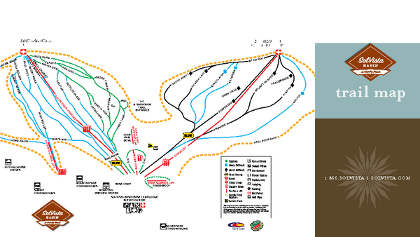 SolVista Basin at Granby Ranch Ski Trail Map