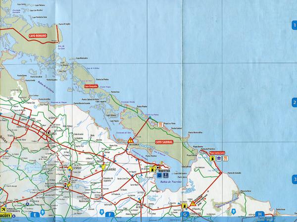 Sola Camalote Road Map Nuevitas Cuba mappery