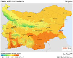 Solar Radiation Map of Bulgaria
