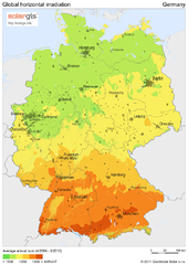Solar Radiation Map of Germany