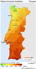 Solar Radiation Map of Portugal