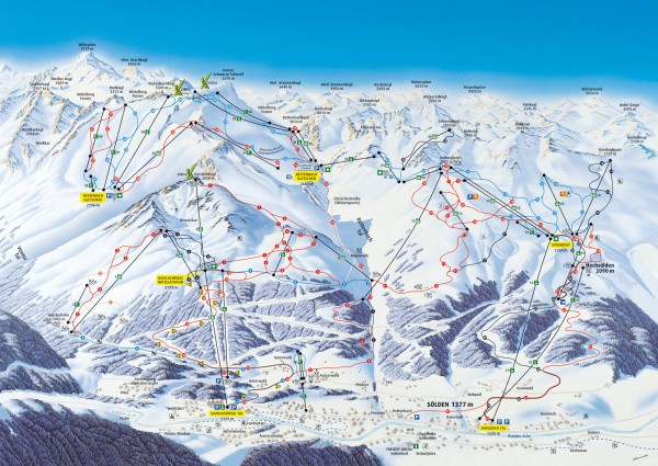 Solden Ski Trail Map