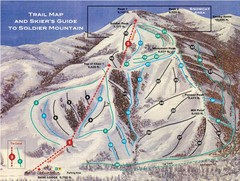 Soldier Mountain Ski Trail Map