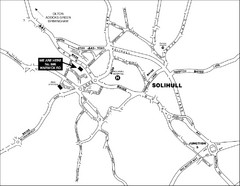 Solihull Town Map