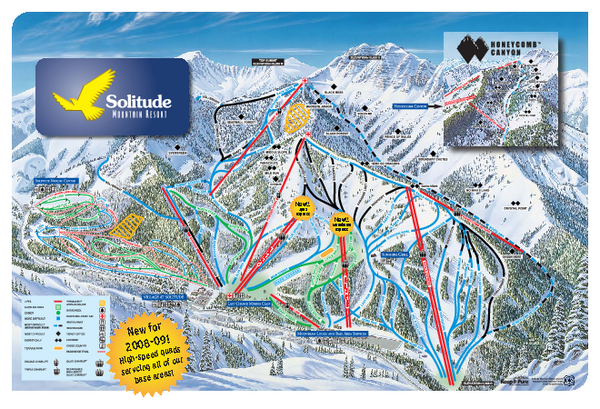 Solitude Mountain Resort Ski Trail Map