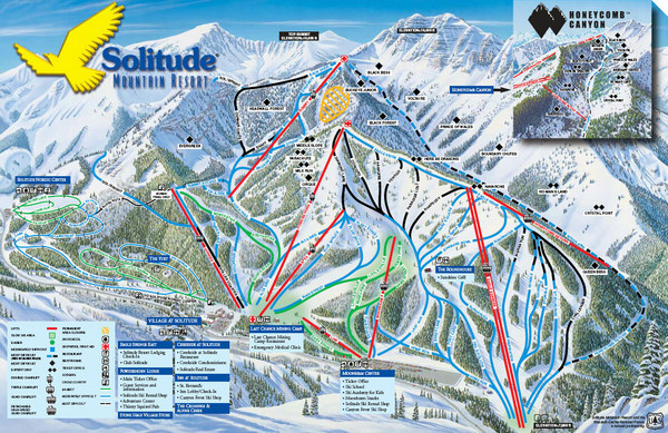 Solitude Mountain Ski Map