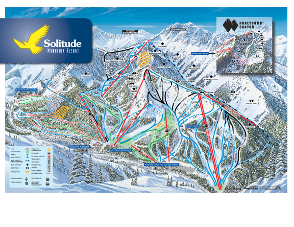Solitude Ski Trail Map