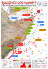 Somali Pirate Attacks Map as of Dec 12, 2007