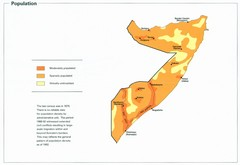 Somalia Population Density Map