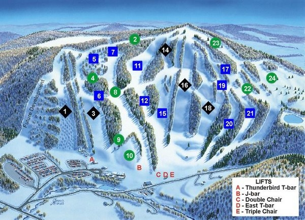 Song Mountain Ski Trail Map