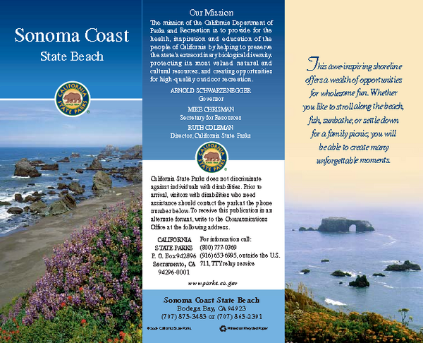 Sonoma Coast State Beach Map