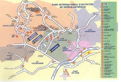 Sophia Antipolis Tourist Map